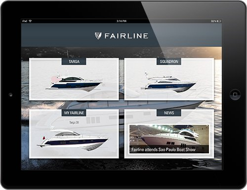 Fairline app home screen