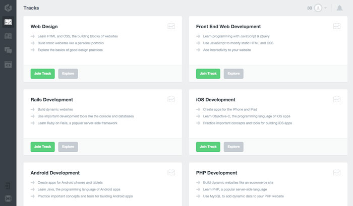 I want to hear from Treehouse about products and services. Learning a new skill doesn't have to interrupt your busy schedule. Our on-demand videos and interactive code challenges are there for you when you need them. We have a wide range of plans to fit your goals and budget. Check out a free.