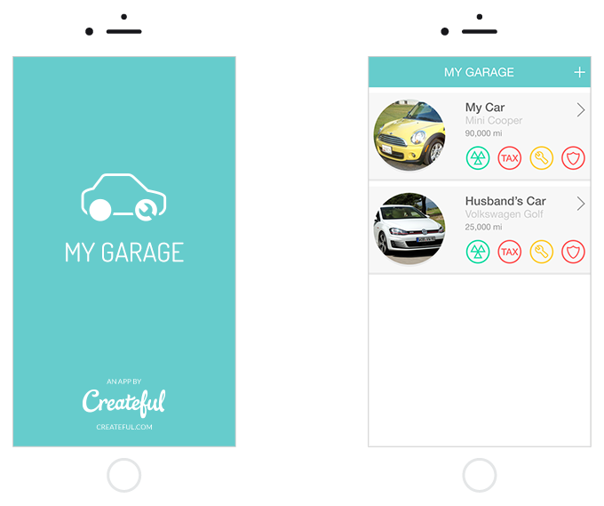 My garage tracker createful mobile app development for Garage design app