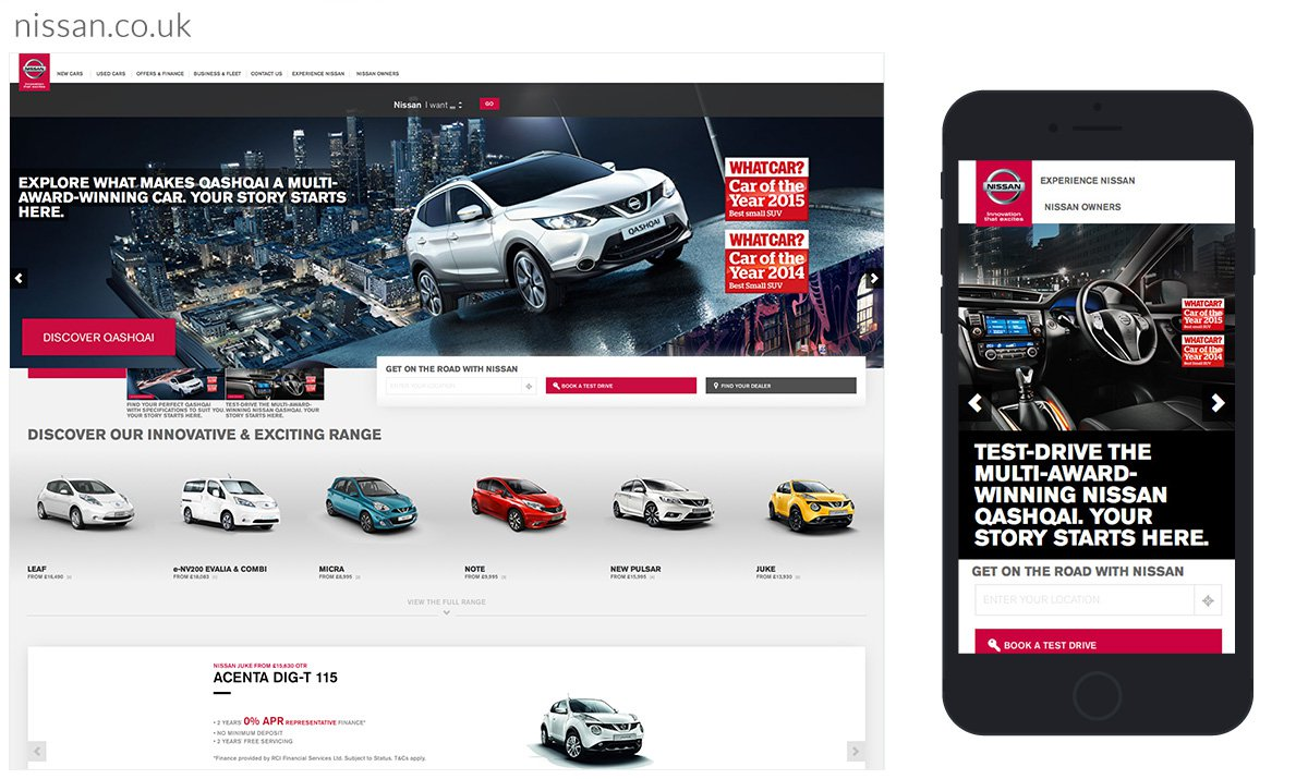 UK Nissan website