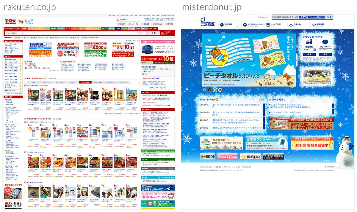 Japanese website designs