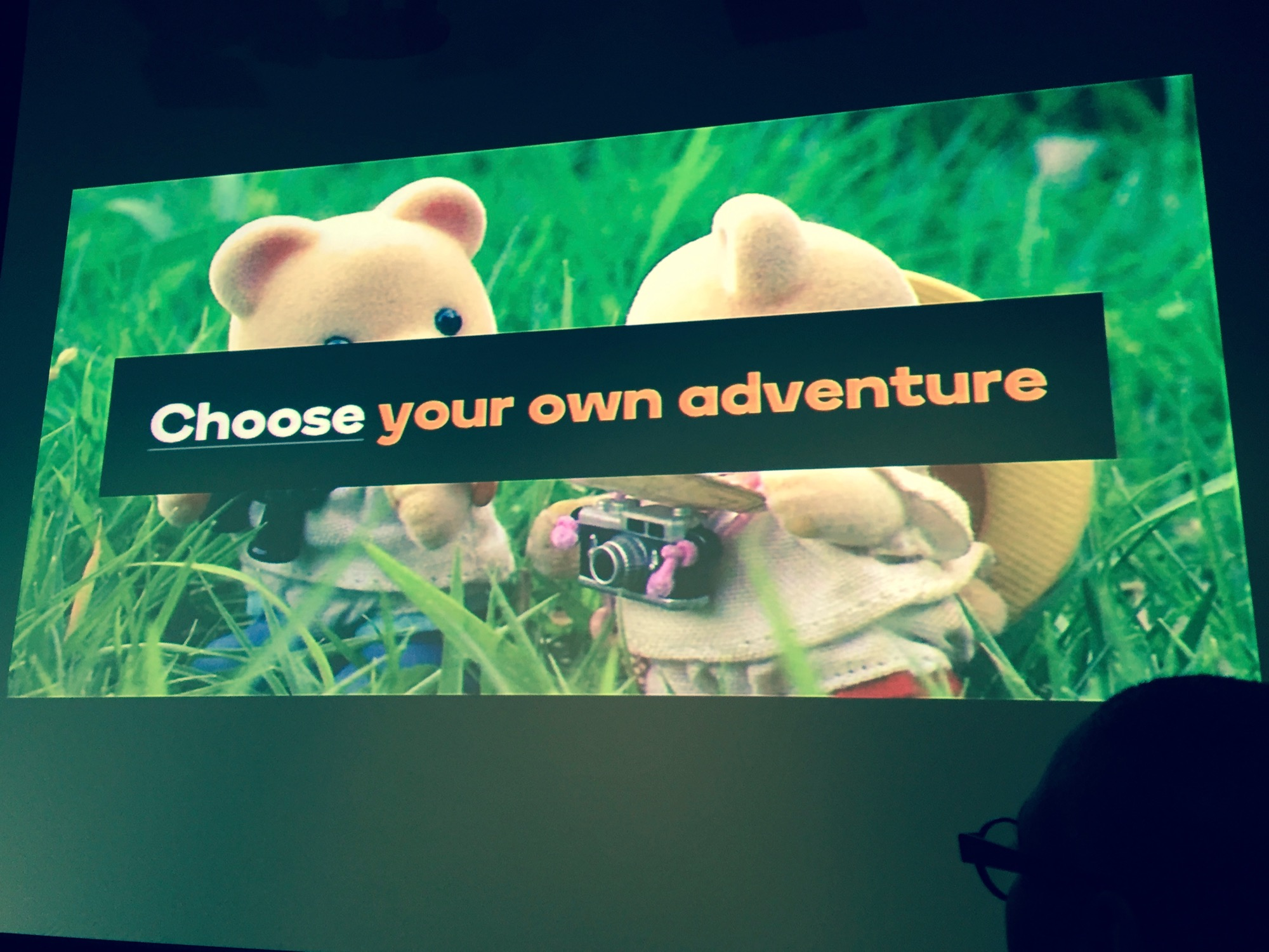 'Choose your own adventure' - Camilla Grey presentation